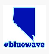 Blue Wave (Nevada) Photographic Print