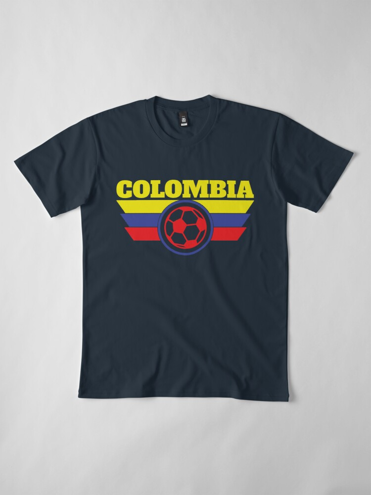 Alternate view of Colombia Jersey Soccer Shirt  World Cup Futbol Premium T-Shirt