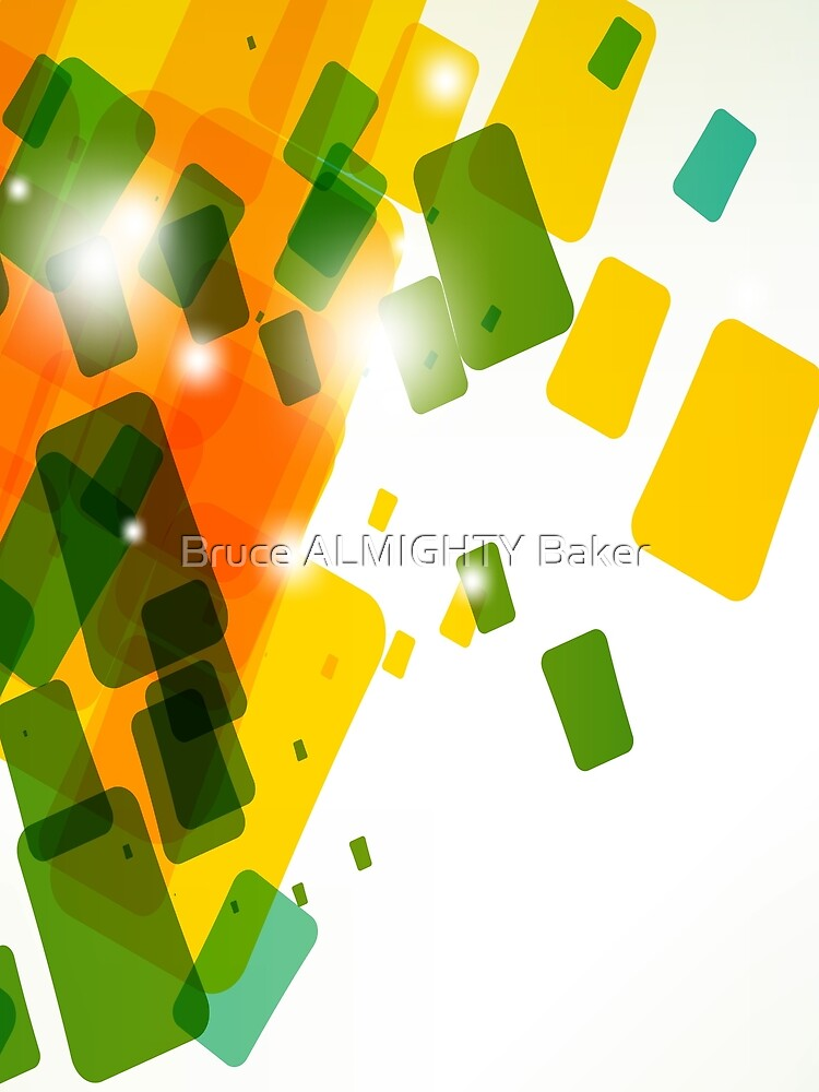 Orange Yellow Green Rectangles Abstract Art by BruceALMIGHTY