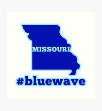 Blue Wave (Missouri) Art Print