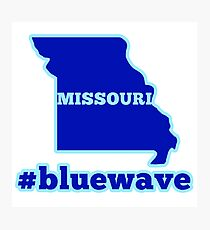 Blue Wave (Missouri) Photographic Print