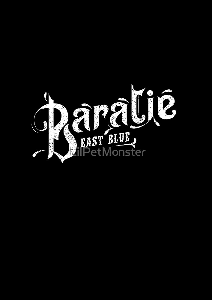 One Piece Baratie Logo White Version by LilPetMonster