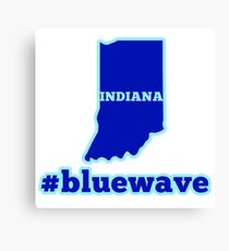 Blue Wave (Indiana) Canvas Print