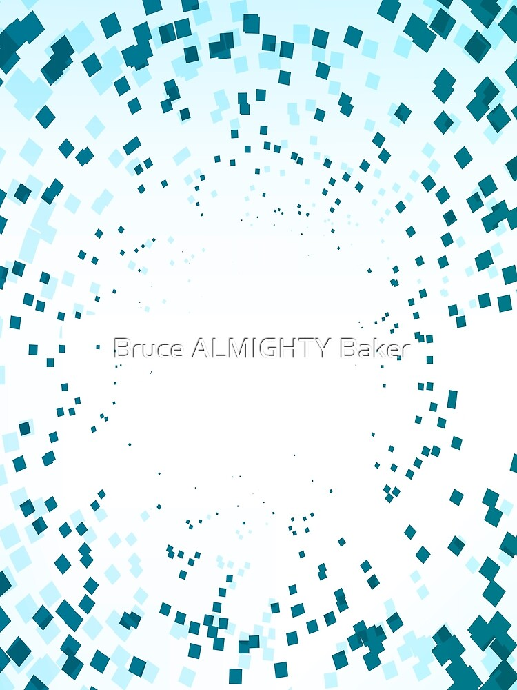 Blue Squares Abstract Art by BruceALMIGHTY