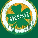 Dripping Irish Shamrock St. Patrick's Day by MudgeStudios