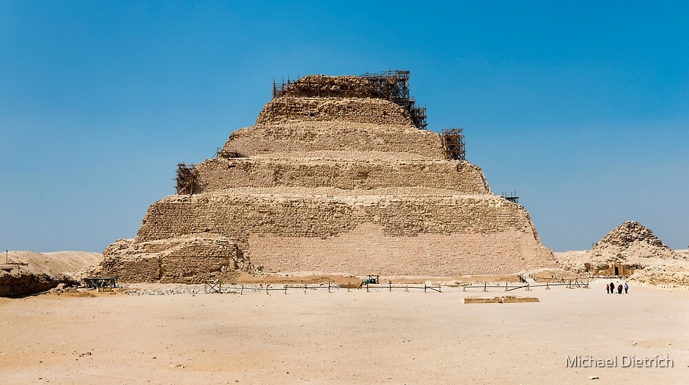Stepped pyramid, Pyramid of Djoser by Michael Dietrich