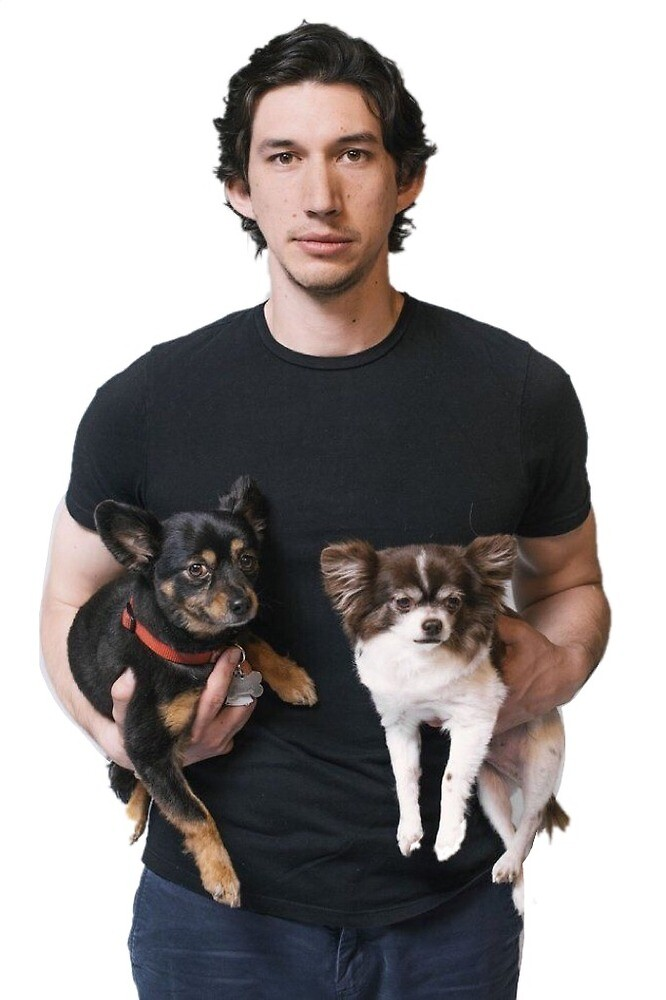 adam driver with dogs by annaliselob