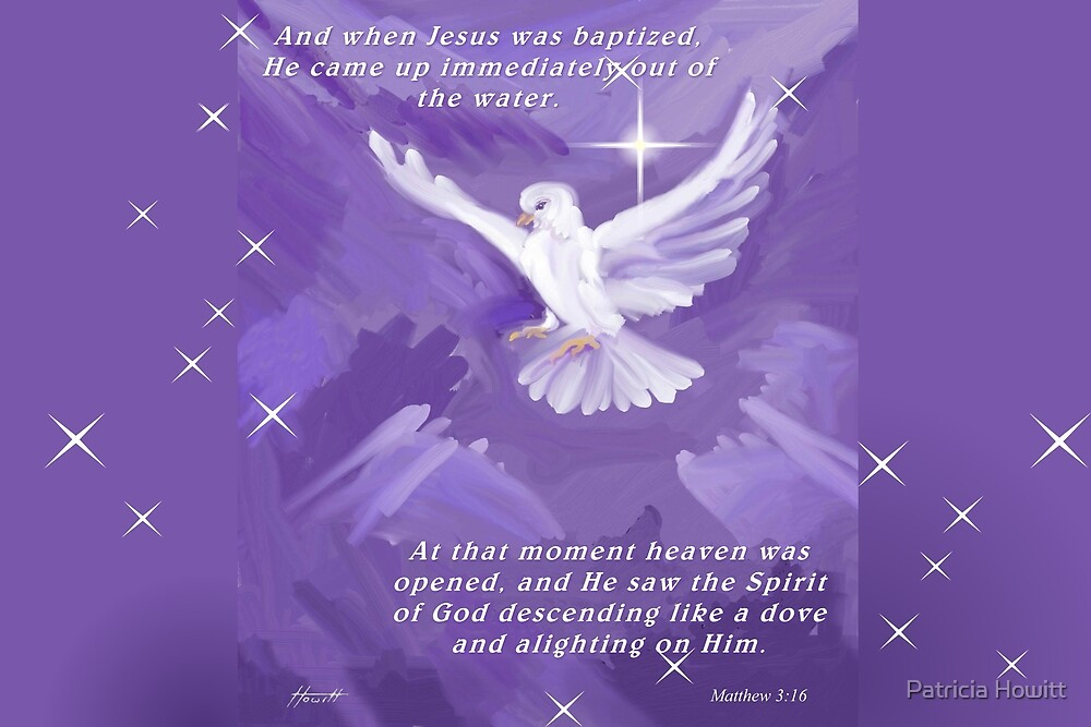 The Holy Spirit Descending as a Dove by Patricia Howitt