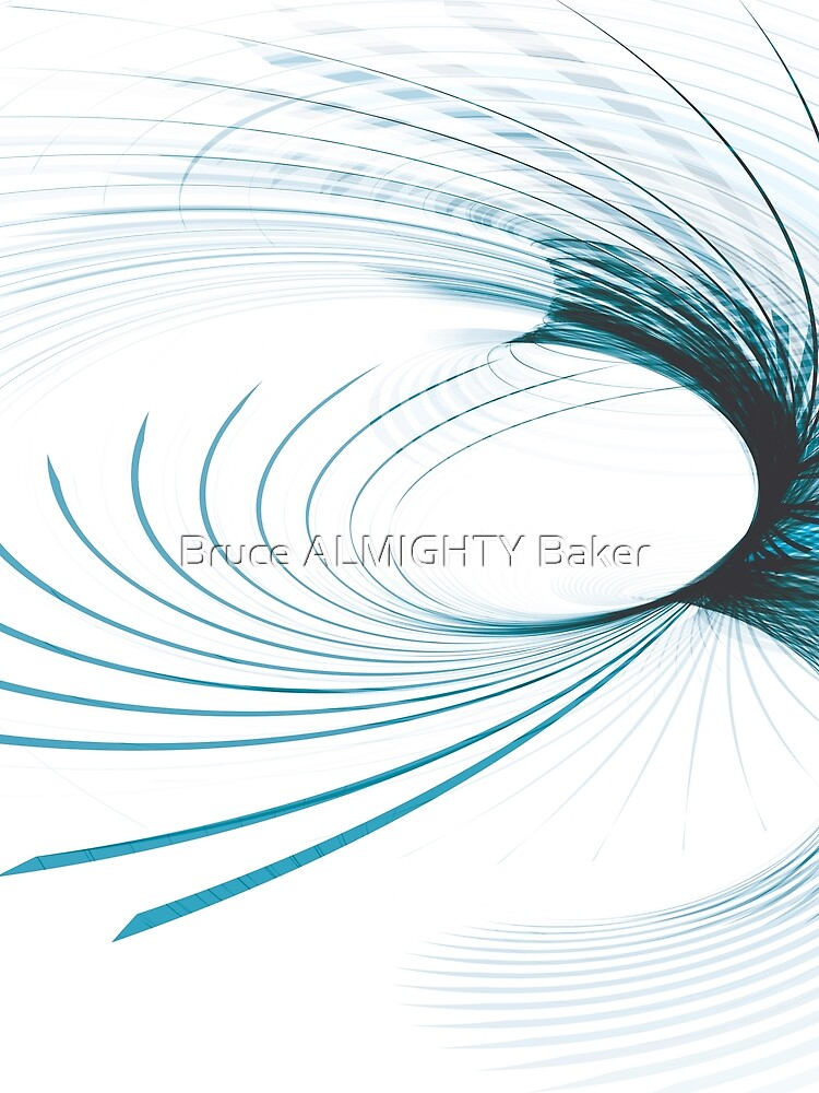Blue Curved Lines Abstract Art by BruceALMIGHTY