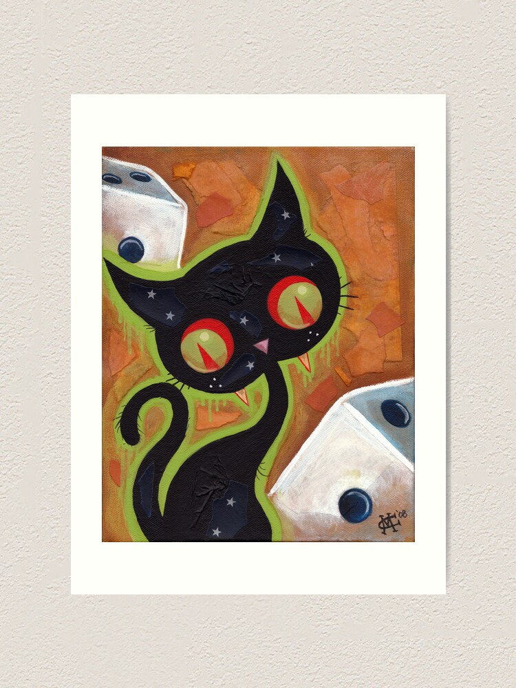 Alternate view of Snake Eyes Art Print