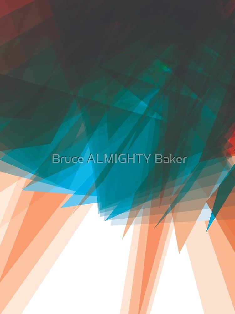 Blue Orange Abstract Art by BruceALMIGHTY