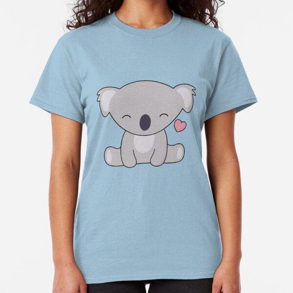 Kawaii Cute Koala Loves Hearts Classic T-Shirt
