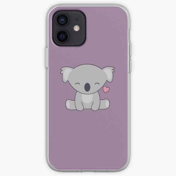 Kawaii Cute Koala Loves Hearts iPhone Soft Case