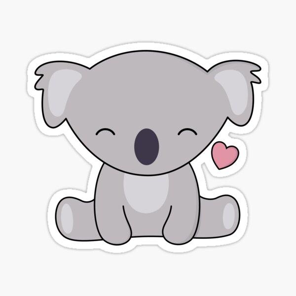 Kawaii Cute Koala ama los corazones Pegatina