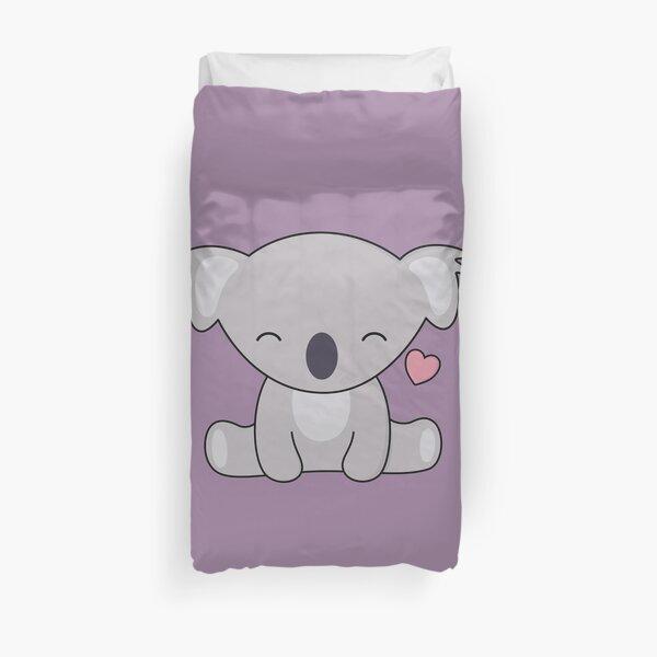 Kawaii Cute Koala ama los corazones Funda nórdica