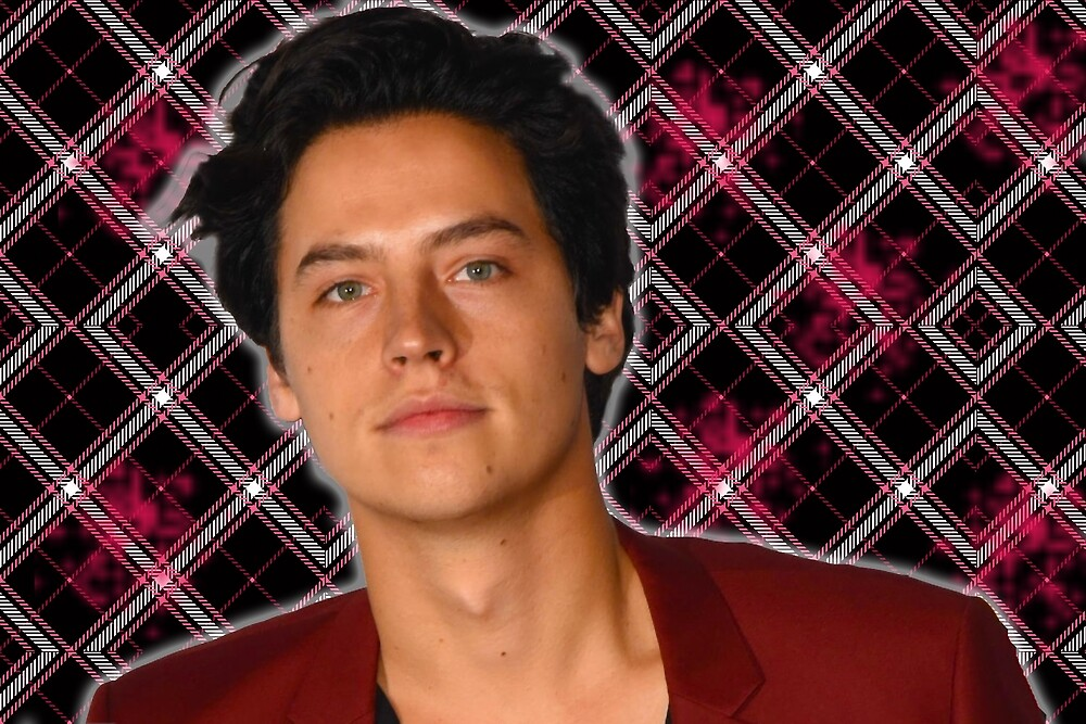 cole sprouse black pink plaid by resmarted