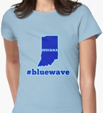 Blue Wave (Indiana) Women's Fitted T-Shirt