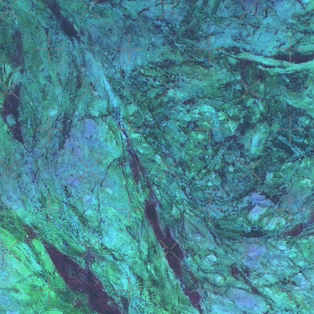 Coral Green Blue Aesthetic Art by Daniel Ward