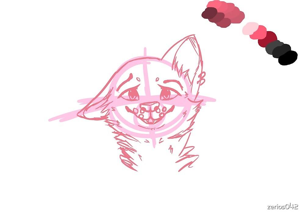 Cartoon Wolf Sketch by zerios042