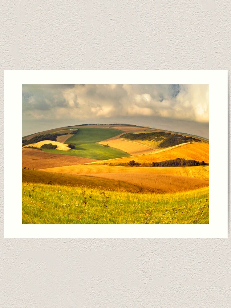 Alternate view of round landscape Art Print