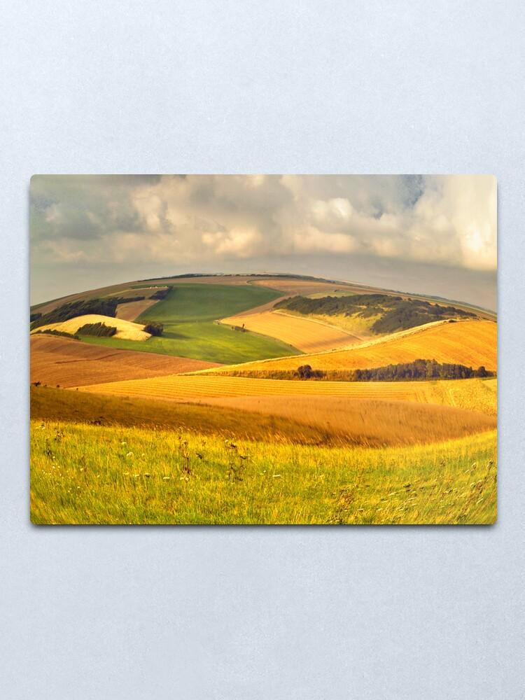 Alternate view of round landscape Metal Print
