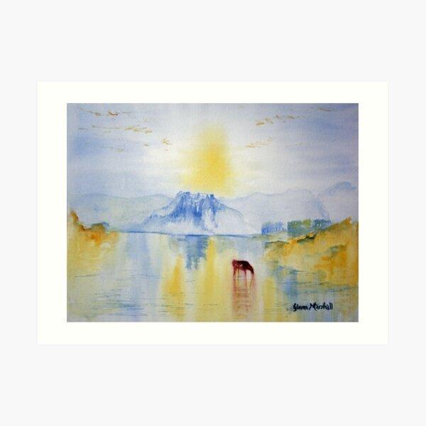 Sunrise over Norham Abbey Art Print