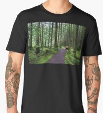 Bench in Magic Forest Men's Premium T-Shirt