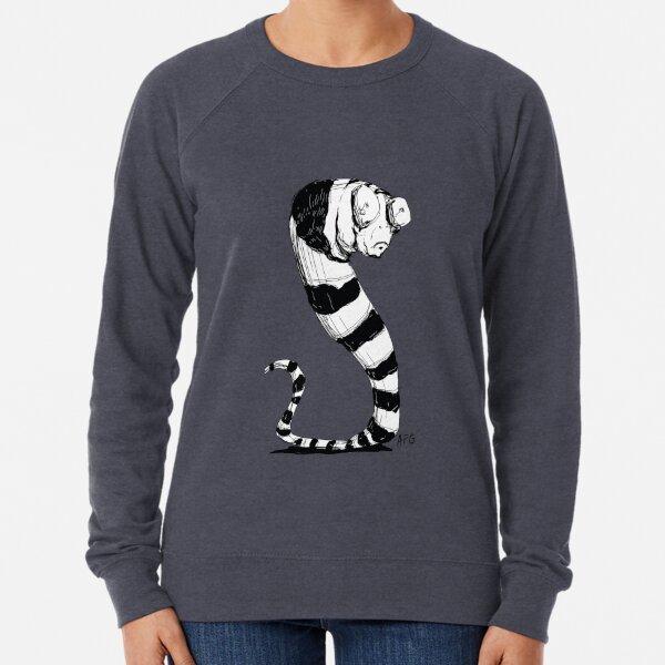 Bug Eyed Black and White Striped Snake...Thing? Lightweight Sweatshirt