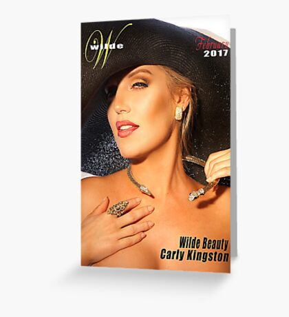 Carly with Big black Hat Greeting Card