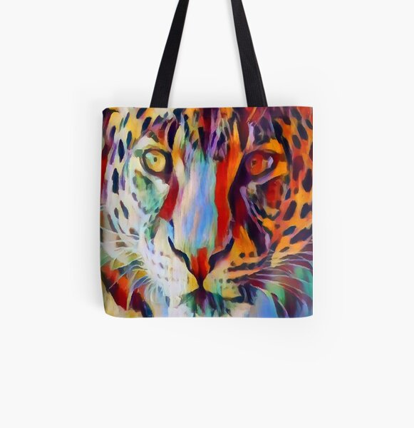 Leopard All Over Print Tote Bag