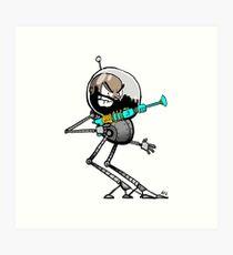 Space Aaron Robot Art Print