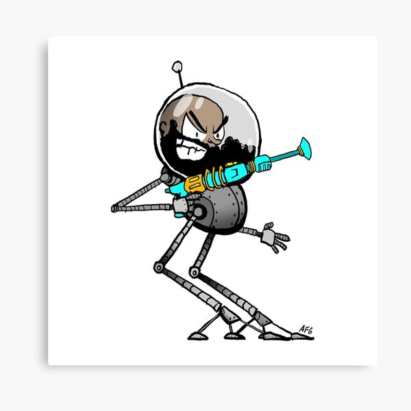Space Aaron Robot Canvas Print