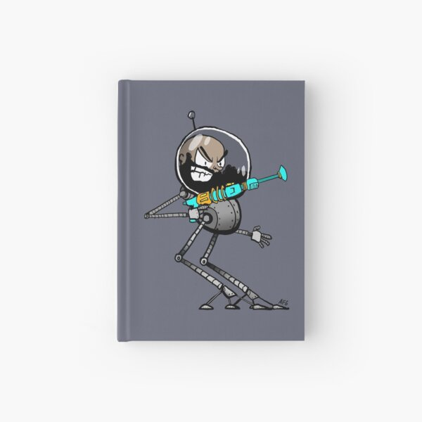 Space Aaron Robot Hardcover Journal