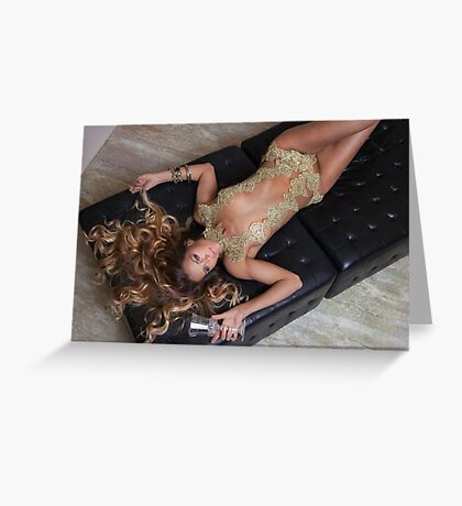 Staci in Gold for BB Greeting Card