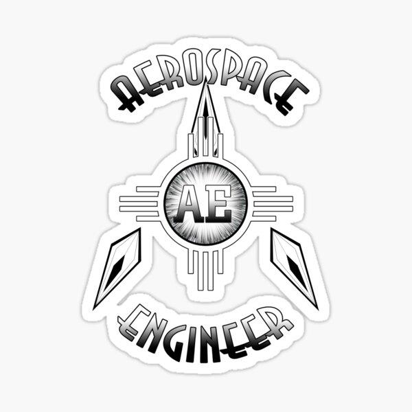 Aerospace Engineer Retro Typography Artwork Sticker