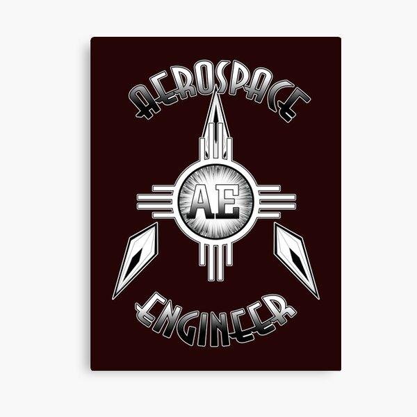 Aerospace Engineer Retro Typography Artwork Canvas Print