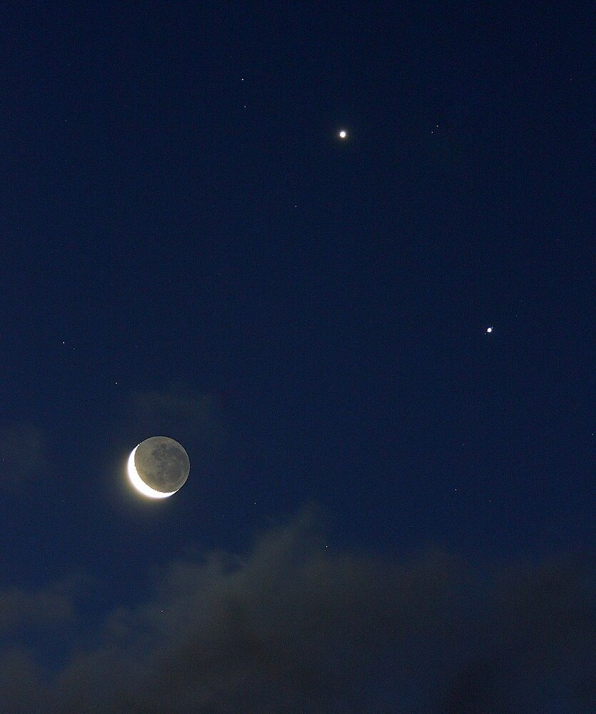 Moon & Planets by Shevill Mathers