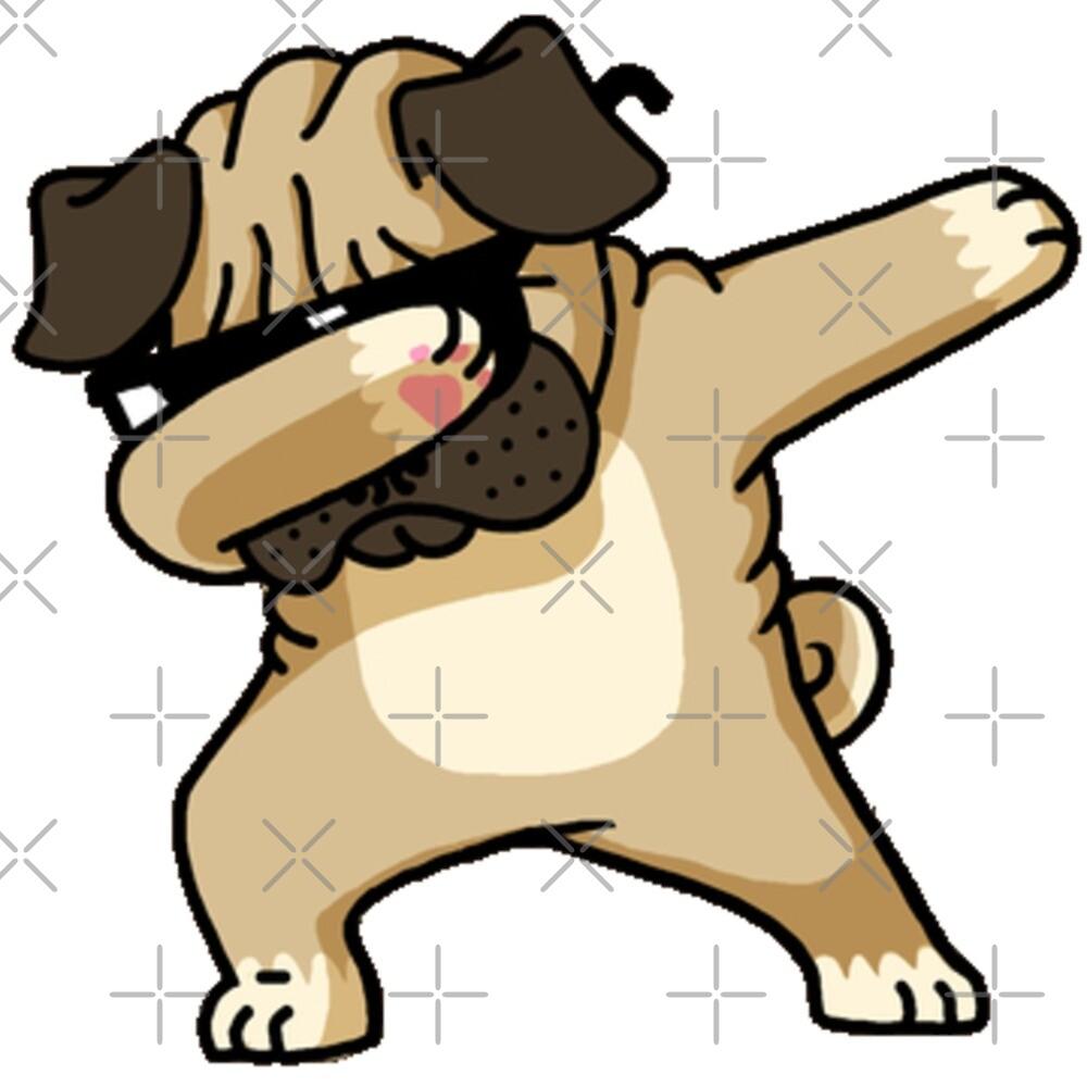 Dabbing Pug Puppy\