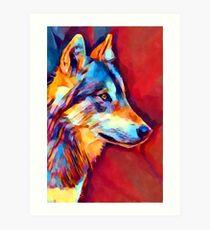 Wolf Portrait 2 Art Print