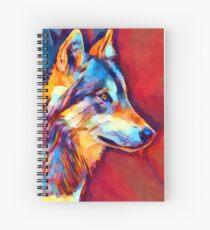 Wolf Portrait 2 Spiral Notebook