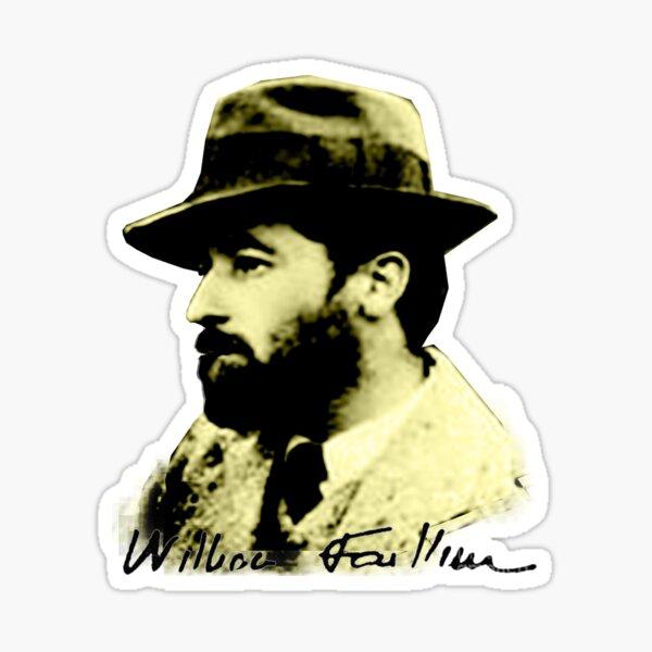 Faulkner – Bearded Young Bohemian  Sticker