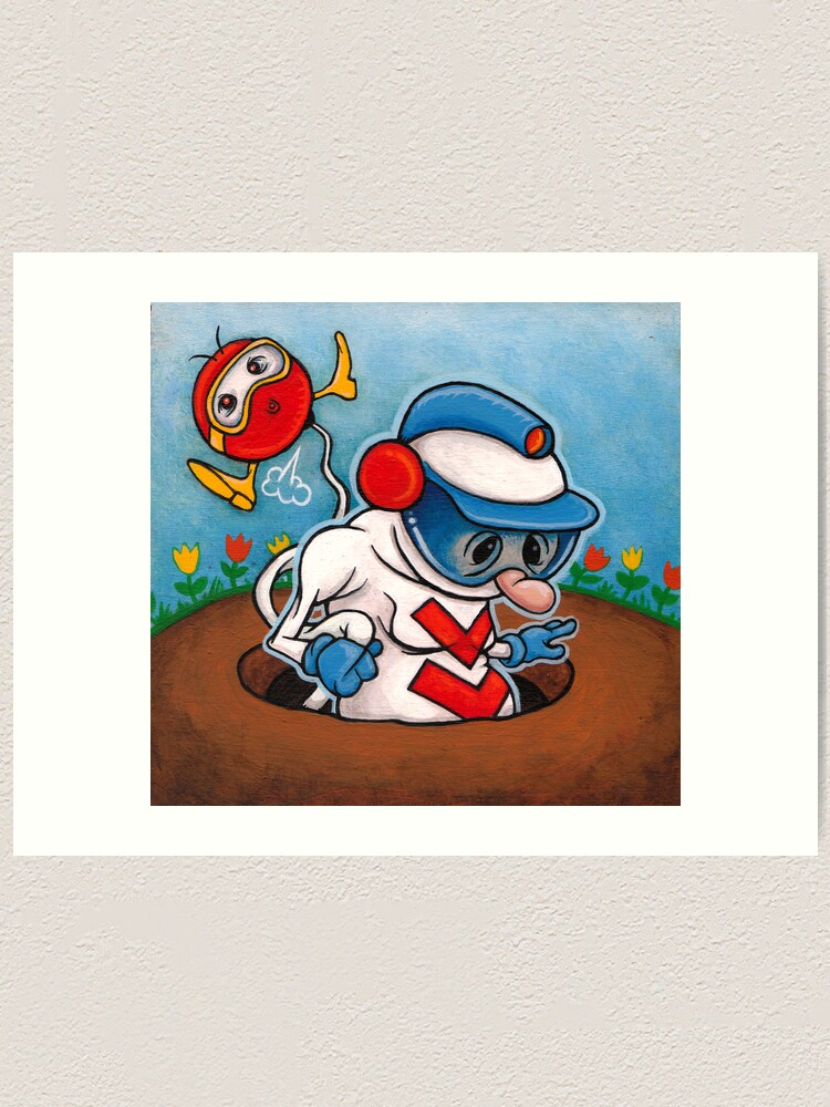 Alternate view of DigDug Art Print
