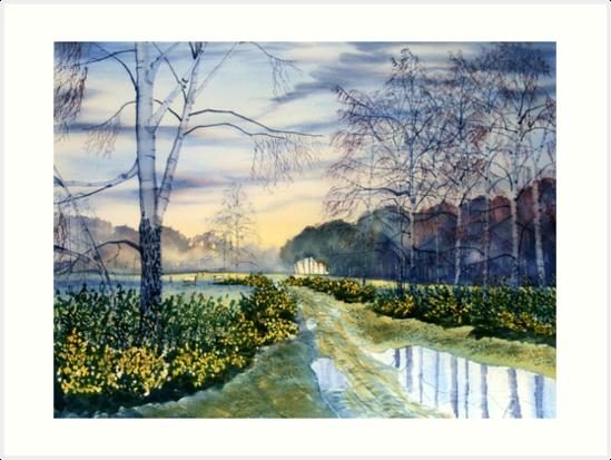 Springtime on Strensall Common by Glenn  Marshall