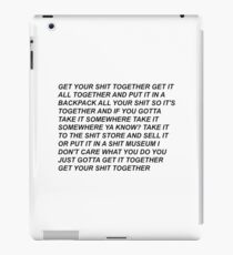 rick quotes iPad Case/Skin