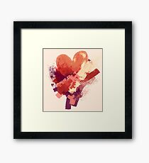 a heart for you [ivory theme] Framed Print