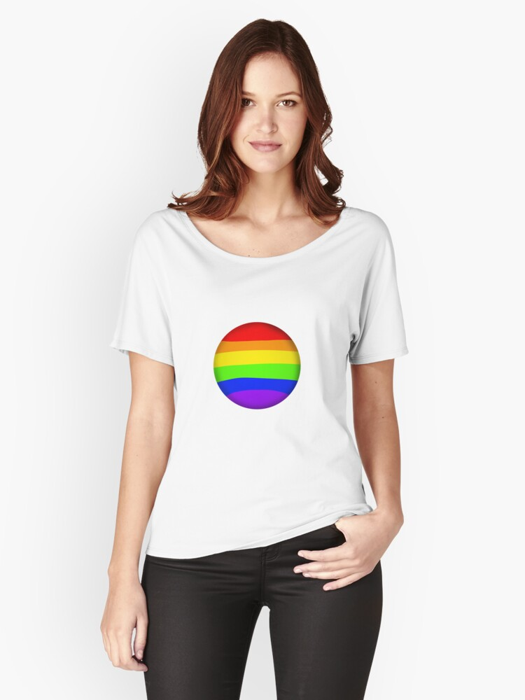 Gay Bubble Womens Relaxed Fit T Shirt Front