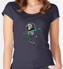 Space Aaron Robot Fitted Scoop T-Shirt