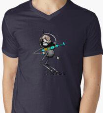 Space Aaron Robot V-Neck T-Shirt