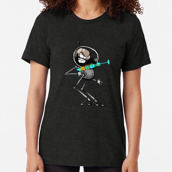 Space Aaron Robot Tri-blend T-Shirt