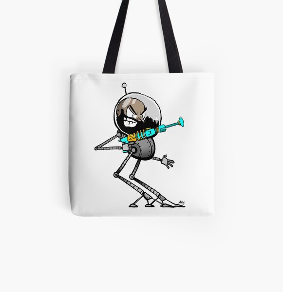 Space Aaron Robot All Over Print Tote Bag